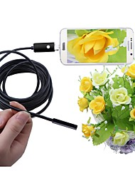 cheap -2 In 1 USB Endoscope 7mm Lens IP67 Waterproof Inspection Borescope Camera Snake Cam for Windows Android 5M Cable Black