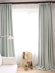 cheap -Grommet Top Double Pleat Pencil Pleat Curtain Modern, Printed Solid Living Room Cotton Material Blackout Curtains Drapes Home Decoration