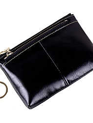 cheap -Women's Bags Cowhide Coin Purse Zipper Coffee / Camel / Royal Blue