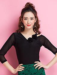 cheap -Ballroom Dance Tops Women's Performance Ice Silk Half Sleeves Top