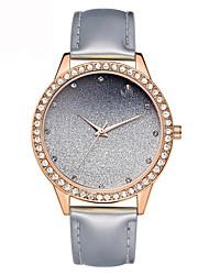 preiswerte -Damen Pavé-Uhr Einzigartige kreative Uhr Modeuhr Armbanduhren für den Alltag Chinesisch Quartz Chronograph Leder Band Freizeit Mehrfarbig