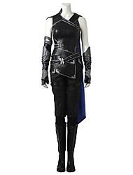 economico -Costumi da supereroi Cosplay Costumi Cosplay Costume Cosplay da film Grigio e nero Canottiera Pantaloni Guanti Cintura Mantello A stivale