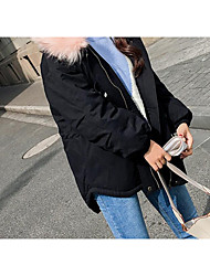 Women's Regular Padded Coat,Casual Chinoiserie Wear to work To-Go Solid-Cotton Long Sleeves