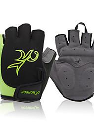 Спортивные перчатки Спортивные перчатки Перчатки для велосипедистов Пригодно для носки Дышащий Нескользящий Без пальцев Нейлон Горные
