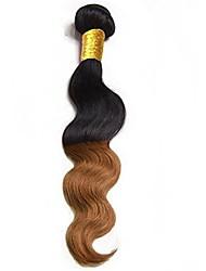 Недорогие -1 комплект Бразильские волосы Естественные кудри Remy Омбре Ткет человеческих волос Расширения человеческих волос