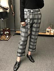 cheap -Women's Inelastic Business Pants Check