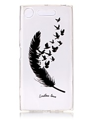 cheap -Case For Sony Xperia XZ1 / Xperia XA1 Ultra-thin / Transparent / Embossed Back Cover Feathers Soft TPU for Sony Xperia XZ1 / Sony Xperia XA1 / Sony Xperia L1