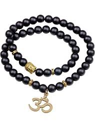 cheap -Women's Onyx Strand Bracelet - Simple Korean Circle Black Bracelet For Going out Street