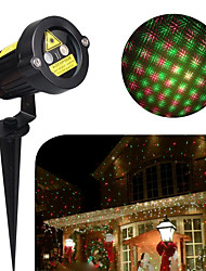 1SET HKV® 5W Mini Projector Lamp Multicolor LED Party Christmas Holiday Light Projector  Lawn lamp AC 100-240V