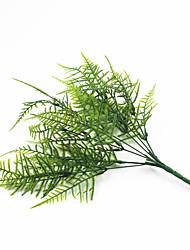 33cm 4 Pcs 45 leave/branch Asparagus fern Home Decoration Artificial Grass