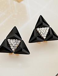cheap -Women's Stud Earrings Drop Earrings Crystal Rhinestone Classic Lovely Fashion Hypoallergenic Korean Crystal Alloy Geometric Jewelry For