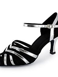 abordables -Femme Chaussures Latines Flocage / Similicuir Sandale / Talon Professionnel Fantaisie Talon Personnalisé Personnalisables Chaussures de