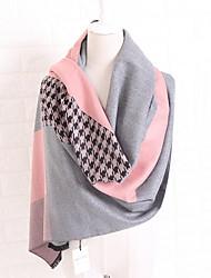 cheap -Women's Cashmere Rectangle Print Fall Winter