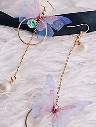 Women's Drop Earrings Imitation Pearl Sweet Elegant Imitation Pearl Alloy Butterfly Jewelry For Daily Going out