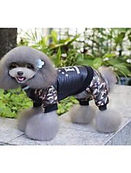 baratos -Gato Cachorro Casacos Macacão Natal Roupas para Cães Carta e Número Preto Algodão Ocasiões Especiais Para animais de estimação novo