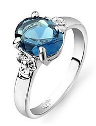 preiswerte -Damen Kristall vergoldet - Elegant Blaues LED / Transparent Ring Für Party / Zeremonie