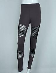 baratos -calças de yoga Leggings Ioga Cintura Média Com Stretch Moda Esportiva Mulheres Ioga Pilates Casual Multi-Esporte Corrida