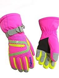Luvas de Inverno Homens Mulheres Dedo Total Manter Quente Prova-de-Água A Prova de Vento Esqui Protecção Fibra de Nailom Esqui Inverno