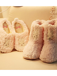 cheap -Women's Flocking Winter Comfort / Fur Lining Slippers & Flip-Flops Closed Toe Pink