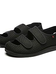 Masculino sapatos Tecido Primavera Outono Conforto Sandálias Para Casual Preto
