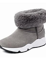 baratos -Mulheres Sapatos Courino Outono Inverno Botas da Moda Botas de Neve Botas Salto Plataforma Ponta Redonda Botas Curtas / Ankle Drapeado