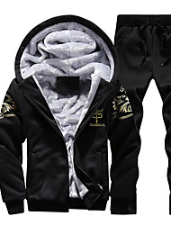 cheap -Men's Sports Holiday Hoodie Print Polyester