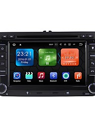 baratos -android 7.1.2 carro dvd player sistema multimídia 7 polegadas quad core wifi ex-3g dab para vw magotan focus 2007-2011 golf 5 golf 6 caddy