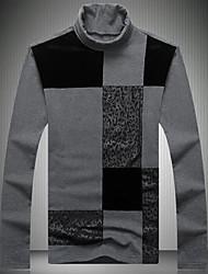 Masculino Camiseta Para Noite Casual Moda de Rua Estampa Colorida Poliéster Gola Alta Manga Longa