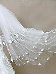 economico -Quattro strati Bordo tagliato Modern Veli da sposa Velo lungo (con strascico) Accessori per capelli Con Con diamantini Con applique Tulle