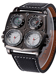 cheap -Men's Fashion Watch Quartz Water Resistant / Water Proof Thermometer Compass PU Band Cool Black Brown