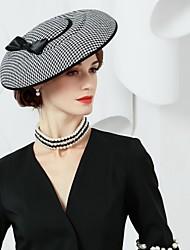 Недорогие -шелковые саржевые плетения шляпы 1 головной убор элегантный классический женский стиль