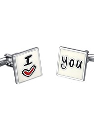 cheap -Cubic Silver Cufflinks Heart Men's Costume Jewelry For Wedding / Gift / Valentine