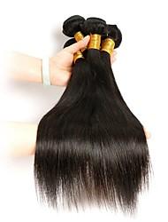 abordables -4 paquetes Cabello Brasileño Recto Cabello Remy Tejidos Humanos Cabello Cabello humano teje Extensiones de cabello humano / Corte Recto