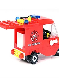 cheap -Building Blocks Motorcycle Fire Engine Vehicle Toys Vehicles Boys Boys' 71 Pieces
