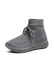 cheap -Women's Shoes Net Fall Winter Light Soles Athletic Shoes Walking Shoes Flat Heel Round Toe For Athletic Casual Black Gray