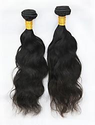 baratos -2 pacotes Cabelo Malaio Ondulado Natural Cabelo Remy Cabelo Humano Ondulado Tramas de cabelo humano Adorável Extensões de cabelo humano