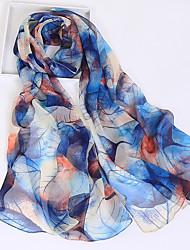 cheap -Women's Chiffon Rectangle Print