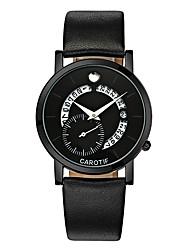 Недорогие -Муж. Наручные часы Японский Календарь / Секундомер / Защита от влаги Кожа Группа На каждый день / Elegant / Мода Черный