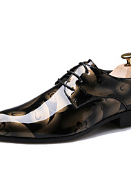 cheap -Men's Shoes Patent Leather Fall Winter Formal Shoes Oxfords For Casual Party & Evening Blue Red Brown Gray