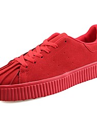 cheap -Men's Shoes Fleece Spring Fall Light Soles Sneakers for Casual White Black Brown Red Blue
