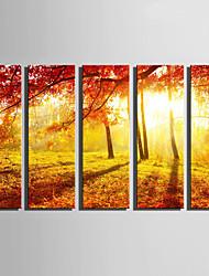 cheap -Landscape Classic, Five Panels Canvas Vertical Print Wall Decor Home Decoration