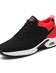 baratos -Homens sapatos Courino Outono / Inverno Conforto Tênis Basquete Branco / Preto / Preto / Vermelho / Black / azul