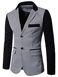 cheap -Men's Going out Casual/Daily Casual Vintage Spring Fall Blazer