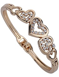 cheap -Women's Bangles Rhinestone Fashion Korean Imitation Diamond Alloy Heart Jewelry For Daily