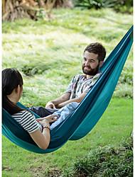 abordables -Hamac de Camping Extérieur Pliage, Pressant Matière pour Camping / Randonnée - 2 personne Orange / Bleu de minuit