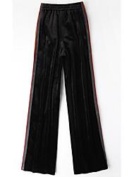 economico -Da donna Pantaloni Media elasticità Pantaloni della tuta Pantaloni,Tinta unita