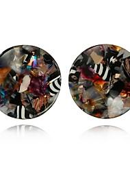 preiswerte -Damen lieblich Mehrfarbig Ohrstecker - Mehrfarbig Kaffee Kreisform Ohrringe Für Geschenk / Verabredung