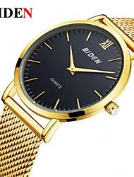 Недорогие -Муж. Модные часы Наручные часы Японский Кварцевый Повседневные часы Нержавеющая сталь Группа На каждый день Elegant Черный Серебристый