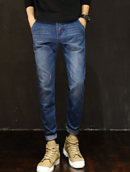 cheap -Men's Casual Jeans Pants - Solid Colored