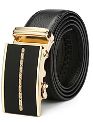 cheap -Men's Leather Buckle,Black Vintage Casual Solid Color Vintage Style